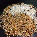 замочки из латуни в серебро и золото