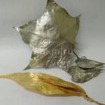 Золочение и никелирование живых листьев