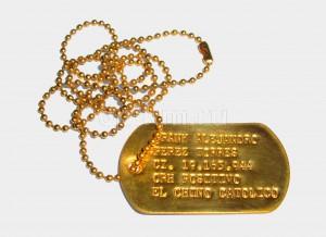Желтое кобальтированное золочение жетона на цепочке в Москве по выгодной цене.