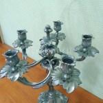 Серебрение и патирование подсвечников