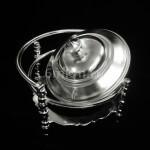 Реставрация серебряного покрытия на сахарнице начала 20 века.
