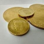 Золочение монет
