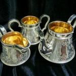 Серебрение и внутреннее золочение стариннных изделий.