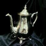 Реставрация поверхности оловянного чайника. Серебрение